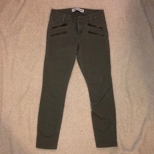 Express size 0 ankle legging I'm green